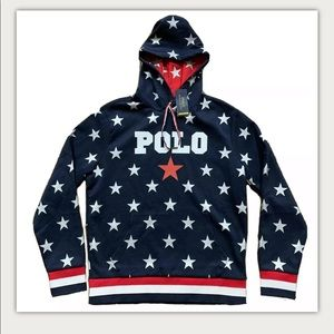 Polo Ralph Lauren USA Stars Double Knit Hoodie